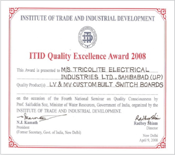 ITID Quality Excellence Award